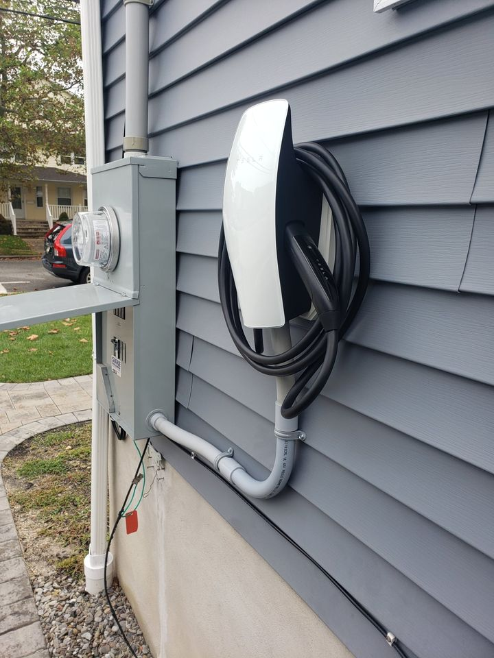 Siding with EV charger