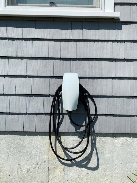 EV charger on home siding